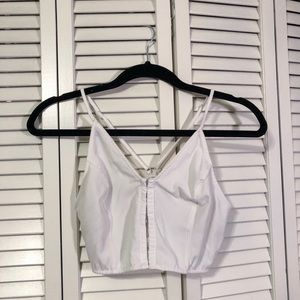 Free People White Crop Top - XS